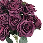 DALAMODA-Plum-Roses-2-Bundles-with-Total-20-Heads-Rose-Flower-Bouquet-for-DIY-Any-Wedding-Prom-Decoration-Artificial-Silk-Flower