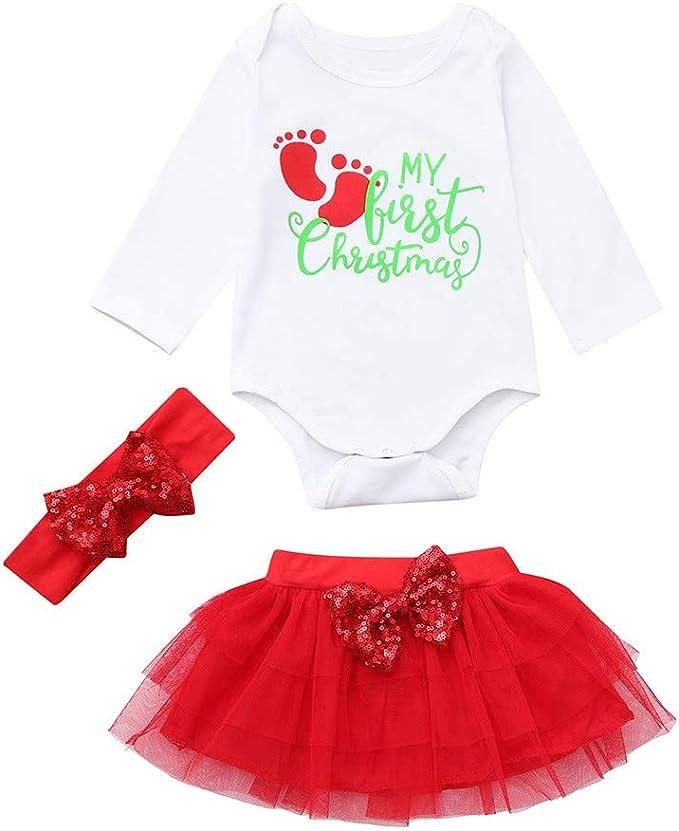 K-youth Ropa Bebe Niña Navidad Conjuntos Niña de Falda Vestido ...