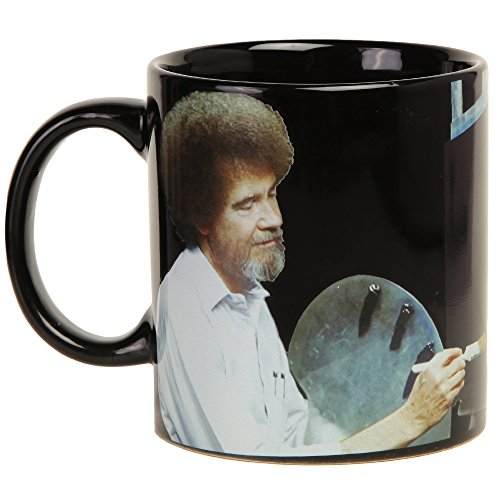Bob Ross Heat Activated Canvas 16 oz. Coffee Mug by Classic Imports