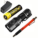 Nitecore MH20 Rechargeable Flashlight with NL183 Battery & Wall Adaptor & FREE Pen, 1000 lm