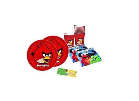 Irpot Kit N2 64 Piece Boys Coordinated Angry Birds Table
