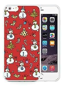 Hot Sell Design iPhone 6 Plus Case,Christmas snowman White iPhone 6 Plus 5.5 TPU Case 1