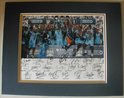 Manchester City Photo - MANCHESTER CITY 2012 EPL Champs Full Team Signed 8