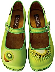 Hot Chocolate Design Chocolaticas Kiwi Womens Mary Jane Flat