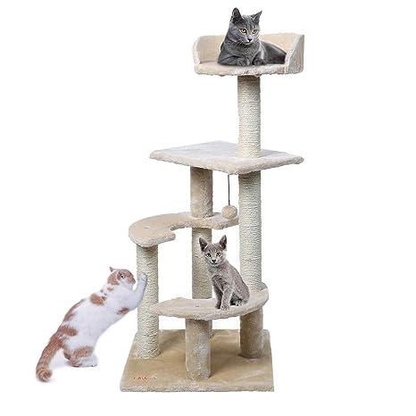 Gulunmun Árbol Rascador para Gatos Mascotas Gatos Árbol 3 Clases ...