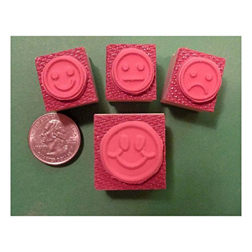 Teachers Rubber Stamp Set , 4 Smiley-Face Stamps created by educators by Unknown (Image #2)