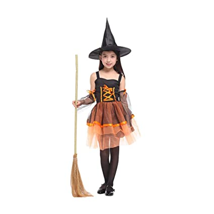 be289960b3e3 Yaxuan Witch Costume- Kids Halloween Fancy Dress Costume Halloween Magic  Fancy Dress Up Party Carnival