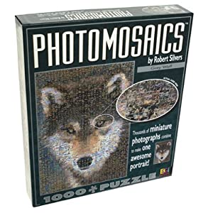 Photomosaics Grey Wolf By Robert Silvers 1000 Piece Jigsaw Puzzle By American Puzzles