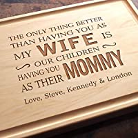 Personalized Cutting Board, Custom Keepsake, Engraved Serving Cheese Plate, Anniversary, Birthday, Thanksgiving, Mother's Day Gift #103