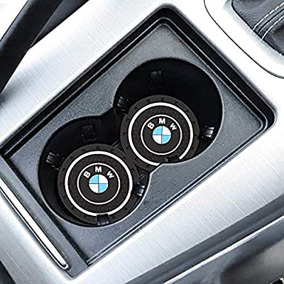 Fujun Upgraded 2 Pcs 2.75 inch Car Interior Accessories Anti Slip Cup Holder Insert Coaster, Cup Mat for BMW: Automotive
