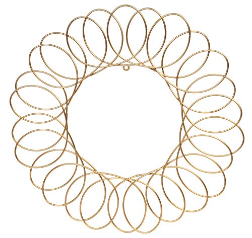 Red Co. Gold Metal Wreath - Wall Mount Christmas Card Holder - 17