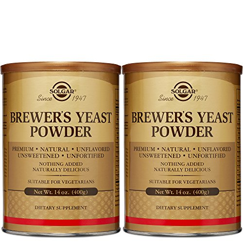 Solgar - Brewer's Yeast Powder 14 oz Supports Heart & Digestive Health - 2 Pack