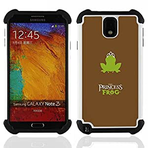 """SAMSUNG Galaxy Note 3 III / N9000 / N9005 - 3 en 1 impreso colorido de Altas Prestaciones PC Funda chaqueta Negro cubierta gel silicona suave (Ilustración Steampunk"""")"""