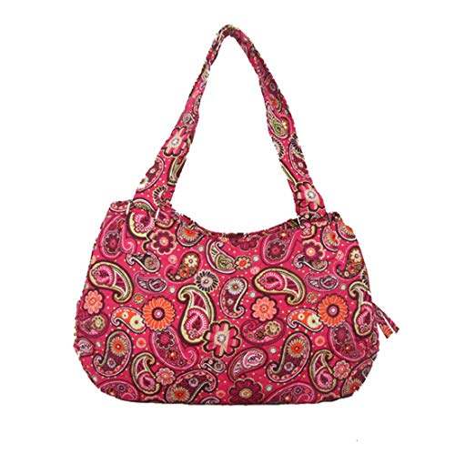 - Quilted Cotton Handle Bags Shoulder Bag (Paisley Spring)