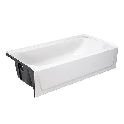 BOOTZ INDUSTRIES 011 7001 001 Bootzcast Bathtub, Porcelain On Steel, Left