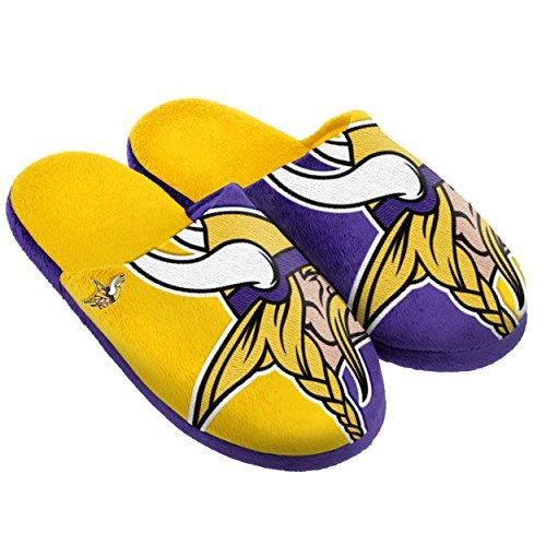 - Minnesota Vikings Split Color Slide Slipper Medium