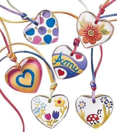 Transparent Color Heart Pendant Party product image