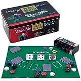 Casino Style Texas Hold'em Poker Chip Set 200 Pcs with Layout