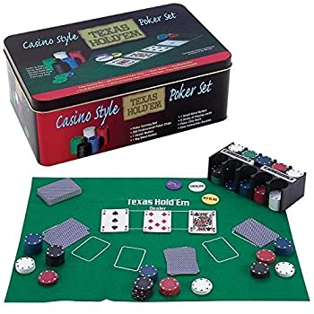 Casino Style Texas Hold'em Poker Chip Set 200 Pcs With Layout 0