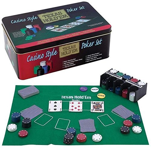 Casino Style Texas Hold'em Poker Chip Set 200 Pcs with Layout by American Gaming Supply, Inc