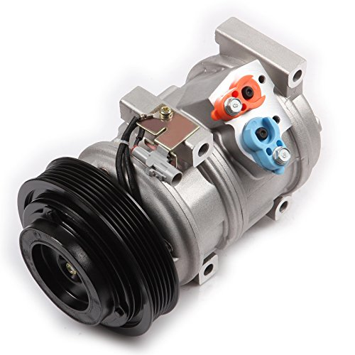 AC Compressor and A/C Cluth ECCPP CO 10854C Automotive Replacement Compressor Assembly for 2004-2006 Toyota Sienna V6 3.3L 2007 V6 3.5L