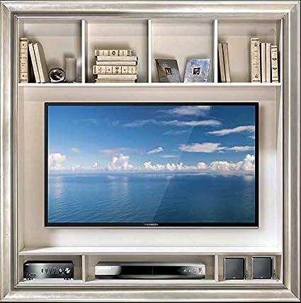 Porta Tv Cornice Argento.Dafnedesign Com Cornice Porta Tv Con Scomparti In Foglia