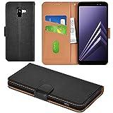 Aicoco Galaxy A8 Plus 2019 Case Flip Cover Leather Wallet Phone Case for Samsung Galaxy A8 Plus 2019 - Black