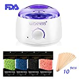 Waxkiss Home Waxing Kit 110V Wax Warmer Hair Removal Kit with Hard Wax Beans for Woman & Man Body Hair Removal