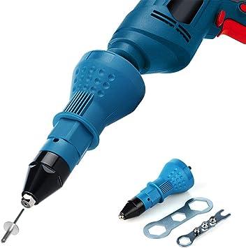 Professional Electric Rivet Nut Gun Adaptor Insert Cordless Power Drill Tool Set