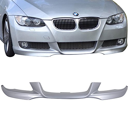 Pre-painted Front Bumper Lip Fits 2007-2010 BMW E92 E93 3 Series | M-Tech Style Painted Titanium Silver #354 PP Air Dam Chin Protector Front Bumper Lip other color available by IKON MOTORSPORTS | 2008 ()
