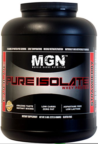 MGN Whey Protein Isolate 5lb Strawberry
