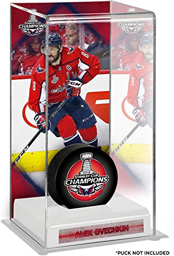 Alex Ovechkin Washington Capitals 2018 Stanley Cup Champions Logo Deluxe Tall Hockey Puck Case - Hockey Puck Free Standing Display Cases ()