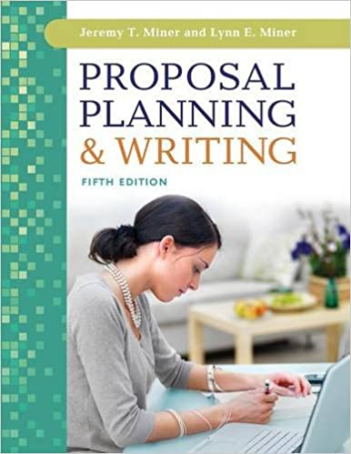 proposal planning and writing