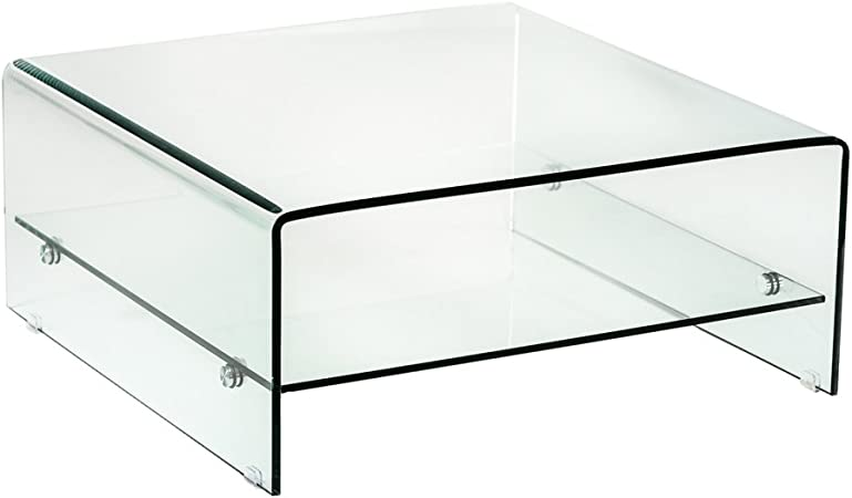 Alpisedia Vitra Table Basse 80cm En Verre Trempe 80 X 80 X 35