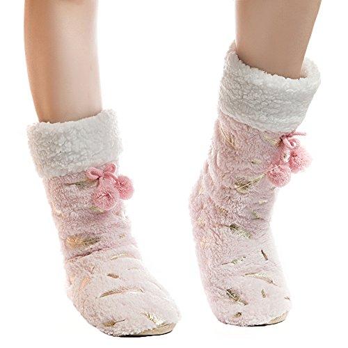 Damen Schuhe Stiefel Damen Winter weichen Anti Pink Home Indoor Slip Fralosha Plüsch AdqHUFp4wA