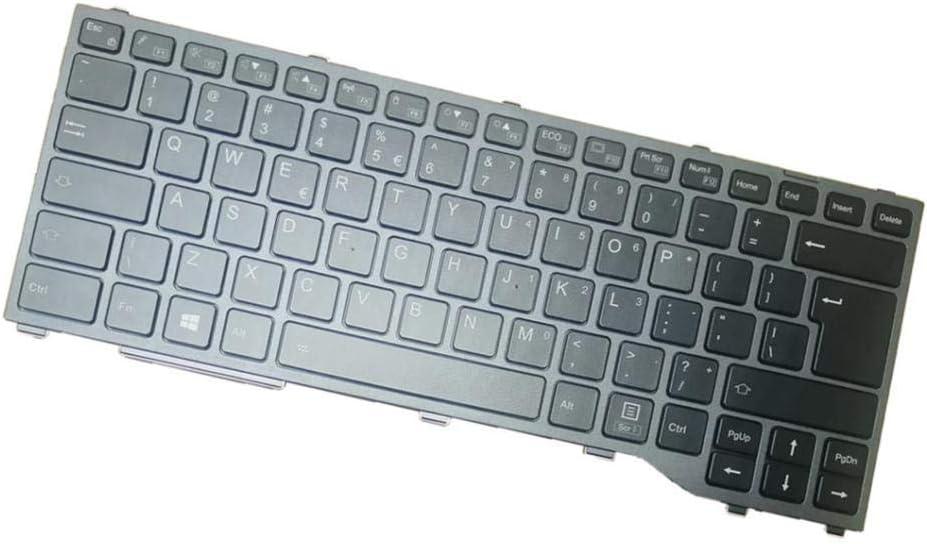 H HILABEE Teclado con Luz de Fondo para Laptop Teclado Portátil para Fujitsu Siemens Lifebook, 11.4 x 5.9 x 0.2 Pulgadas