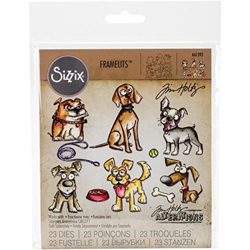Sizzix Doodlebug SIZ661593 THoltz Framelits Die Crazy Dogs -