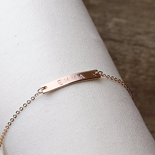 A Same Day Shipping Before 3pm Personalized bridesmaid Jewelry Pink Bracelet Flower Girl Gift Rose Gold Wedding Party Gifts Women - - A To Remember Party