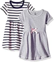 Touched by Nature Baby-Girls Organic Cotton Dress, 2 Pack