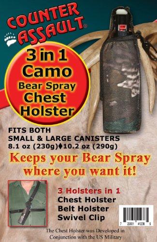 Counter Assault Bear Deterrent Pepper Spray Chest Holster, Camouflage