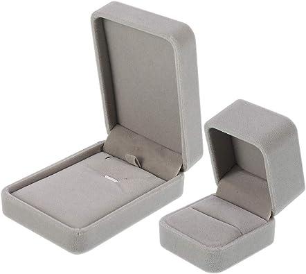 Redcherry - Caja de regalo de terciopelo para collares, colgantes, cajas de almacenamiento para aniversarios, bodas o cumpleaños: Amazon.es: Joyería
