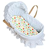 Kushies S335-C22 Bassinet Fitted Sheet, Crazy C. Yellow