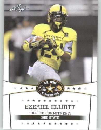 2013 Leaf Army All-American Football Card #31 Ezekiel Elliott - OSU RB - Ohio State Buckeyes (RC - Rookie Card) First Licensed Trading Card
