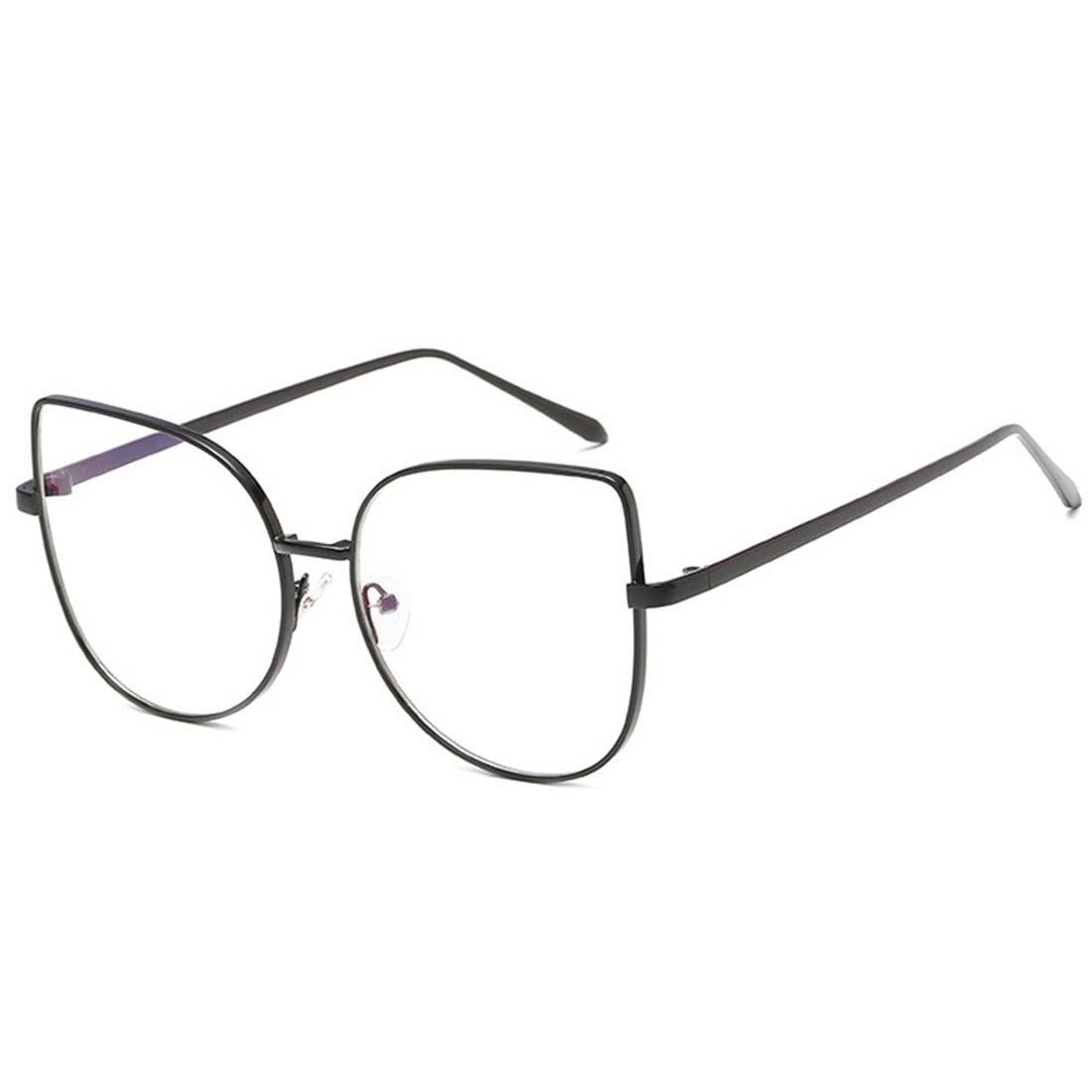 e57e313c61 D.King Cat Eye Glasses Frames Clear Lens Metal Frame Eyewear for women  Black at Amazon Women s Clothing store