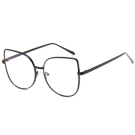 8036667f6e D.King Cat Eye Glasses Frames Clear Lens Metal Frame Eyewear for women Black