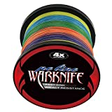 Warknife 4 Stands Super Strong Braided Fishing Line Tensile Strength 500Meters/546.8Yards 40LB Colorful For Sale