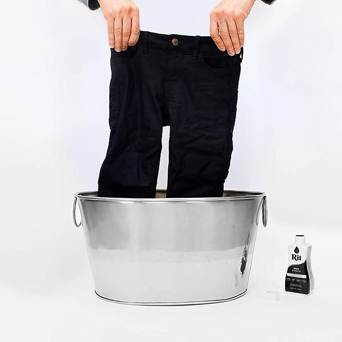 Tinte líquido de tela, de Rit, bote de 236 ml, negro, multicolor, 14.22 x 6.35 x 5.08 cm: Amazon.es: Hogar