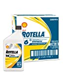 Shell Rotella T6 Full Synthetic Heavy Duty Engine Oil 5W-40, 1 Quart, Pack of 6