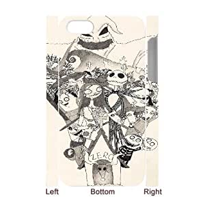 The Nightmare Before Christmas for iphone 4 4S 3D Cell Phone Case & Custom Phone Case Cover R88O879299