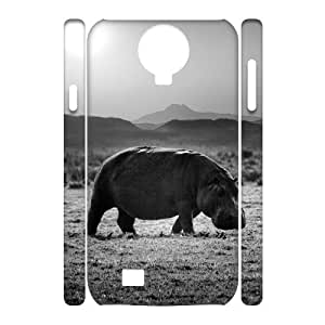 Hippo Phone Case For Samsung Galaxy S4 i9500 [Pattern-1]